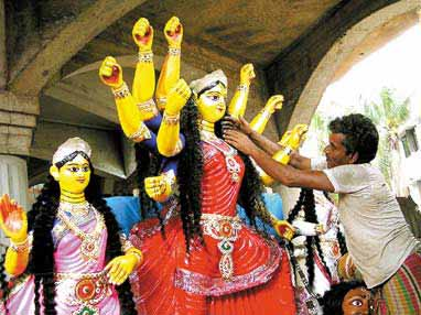 Image result for durga maa idol making